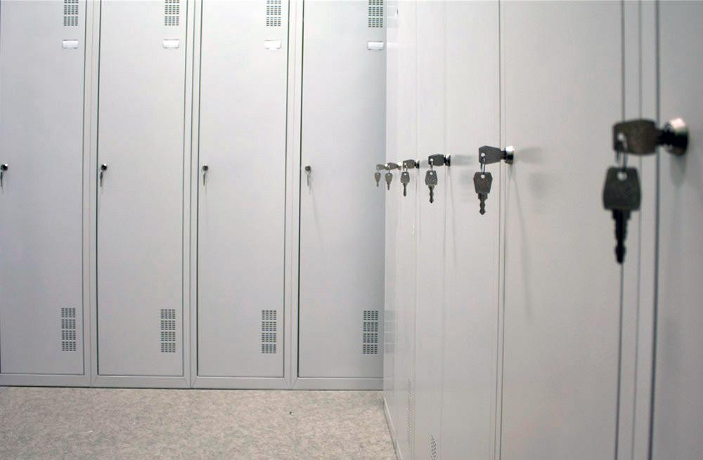 garderobnye shkafy - Односекционный металлический шкаф гардеробный МПИ-118 (300)