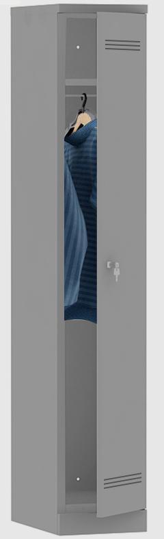 Mpi 1.18 330 Novyy - Односекционный металлический шкаф гардеробный МПИ-1.18 (330)
