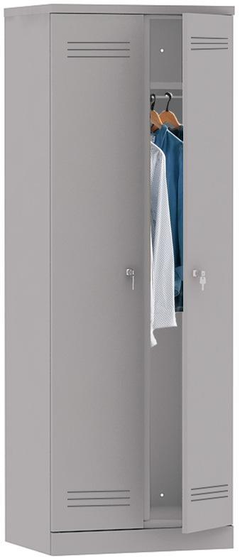 Mpi 1.28660 Novyy - Двухсекционный металлический шкаф гардеробный МПИ-1.28 (660)