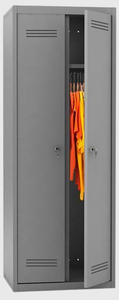 mpi 128 600 720 800 novyy - Двухсекционный металлический шкаф гардеробный МПИ-128 (720)