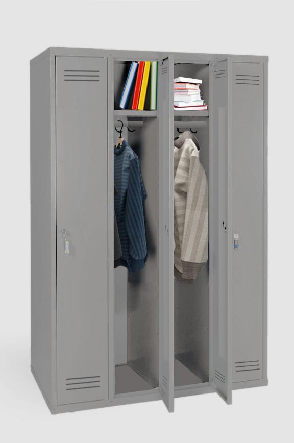 mpi 1461000 novyy - Четырехсекционный металлический шкаф гардеробный МПИ-146 (1000)